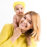 Young mother with her little  daughter Stock Photos