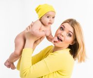 Young mother with her little  daughter Royalty Free Stock Image