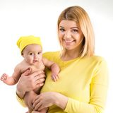Young mother with her little  daughter Stock Images