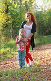 Young mother and her little son Stock Photography