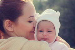 Young mother with her newborn baby Royalty Free Stock Photos