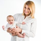 Young mother with her six-month daughter Stock Image
