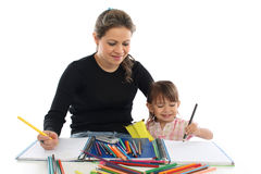 Young mother and her son Stock Images