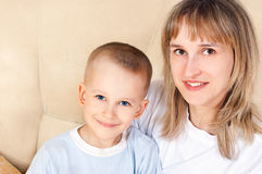 Young mother with her son Stock Photography