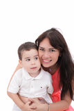 Young mother and her son Royalty Free Stock Photo