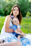 Young Mother with her son, has Cerebral palsy Stock Images