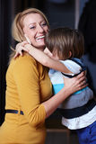 Young mother and her son, hug Stock Photography