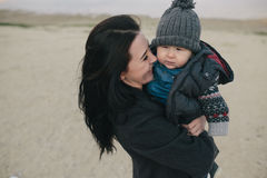 Young mother and her son outdoor Stock Photography