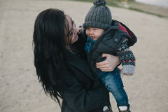 Young mother and her son outdoor Royalty Free Stock Photography