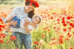 Young mother with her son Stock Images