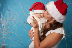 Young mother with her sweet baby. Happy young mother with her sweet baby Royalty Free Stock Photo