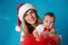 Young mother with her sweet baby. Happy young mother with her sweet baby Royalty Free Stock Image