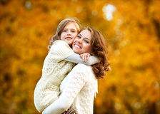 Young mother and her toddler girl Stock Images