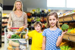 Young mother with her two children Stock Photography