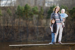 Young mother and her two daughters Royalty Free Stock Images