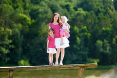 Young mother and her two daughters Stock Image