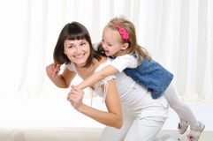 Young mother and her young daughter Stock Photography
