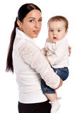 Young mother and his baby Royalty Free Stock Photography
