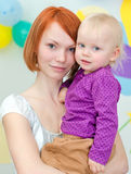 Single parent mother Royalty Free Stock Image