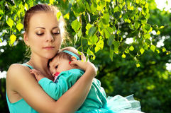 Young mother hugged the child Royalty Free Stock Photos