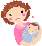 Young mother hugging her baby Royalty Free Stock Photography