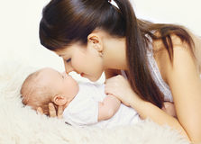 Young mother and infant togetherness Royalty Free Stock Photo