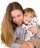 Young mother and little daughter Royalty Free Stock Photos