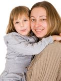 Young mother and little daughter Stock Images