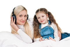 Young mother little daughter Stock Image