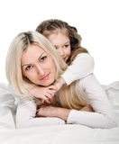 Young mother little daughter Stock Photo