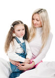 Young mother little daughter Royalty Free Stock Photography