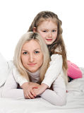 Young mother little daughter Royalty Free Stock Image