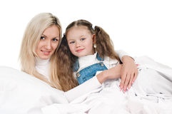 Young mother little daughter Royalty Free Stock Photos