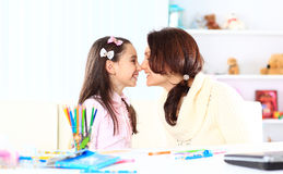 Young mother with little daughter Stock Image
