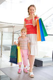 Young mother with little doughter in mall Stock Image