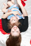 Young mother and little girl Royalty Free Stock Photography