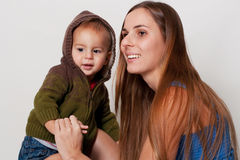 Young mother with little son Royalty Free Stock Photography