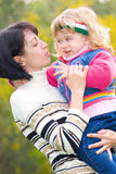 Young mother with lovely daughter portrait Royalty Free Stock Photos