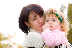 Young mother with lovely daughter portrait Stock Image