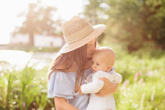 Young mother with newborn baby Royalty Free Stock Image