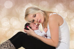 Young mother and newborn baby Royalty Free Stock Photos