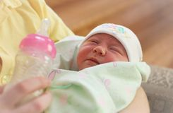 Young mother and newborn baby . royalty free stock photo