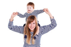 Young mother playing with her little daughter. Royalty Free Stock Photos