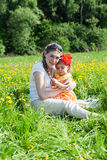Young mother with the small daughter Stock Photography