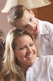 Young Mother and Son. Enjoying a Tender Moment Stock Images