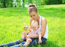 Young mother and son child Stock Photography