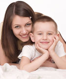 Young mother with son Stock Image