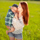 Young mother with son Royalty Free Stock Photo