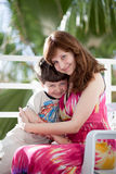 Young mother with son Royalty Free Stock Photos