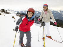 Young Mother And Son On Ski Vacation Royalty Free Stock Photos